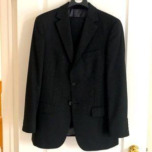 Marks & Spencer black suit regular fit